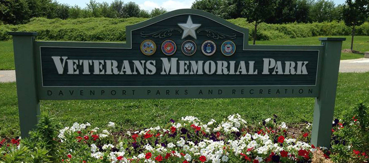 Veterans Memorial Park sign