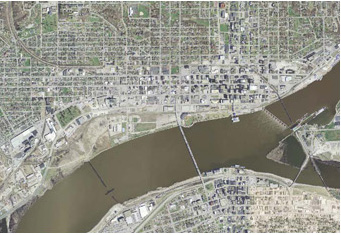 Overhead view of the Metro Quad Cities