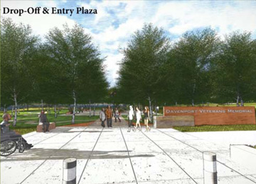 Drop off and entry plaza