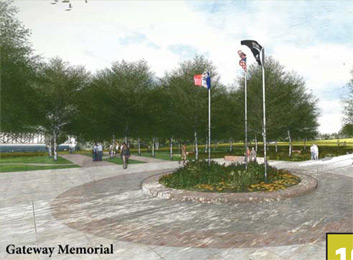Proposed gateway memorial